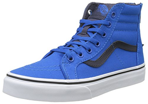 Vans Jungen Uy Sk8-Hi Zip Hohe Sneakers Blau (Canvas Imperial Blue/parisian Night)