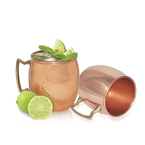 dungri India de vasos de cobre para Moscow Mule-100% Cobre Puro Plain Style, 2unidades) width=