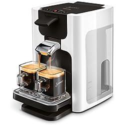 Senseo Quadrante HD7865/00 Machine à café capsules 1,2 L Cafetière 8 tasses Argenté Autonome Café en capsules Argenté Boutons Tasse