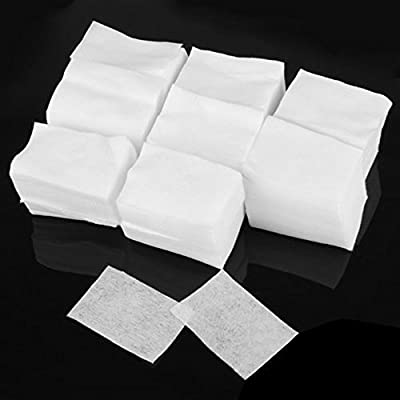 Lint Free Nail Art Wipes Polish Acrylic Beauty Gel Polish Remover Cotton Pads Soft Make up Cosmetic Moisture Absorption Nail Cleaner White 900pcs