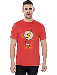 The Souled Store The Flash Point Superhero Printed Premium RED Cotton T-shirt for Men Women and Girls