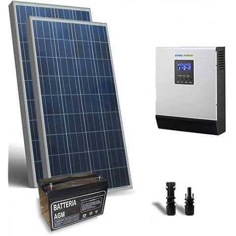 Kit Solare Baita Pro 200W 12V Impianto Fotovoltaico Stand-Alone Isola