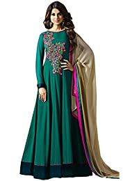 Viha Georgette Embroidery Semi stitched Anarkali Salwar Suit