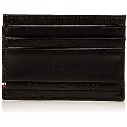 Tommy Hilfiger Selvedge Emboss Cc Holder, Portefeuilles homme, Noir (Black), 0.5x7.5x10.5 cm (B x H T)