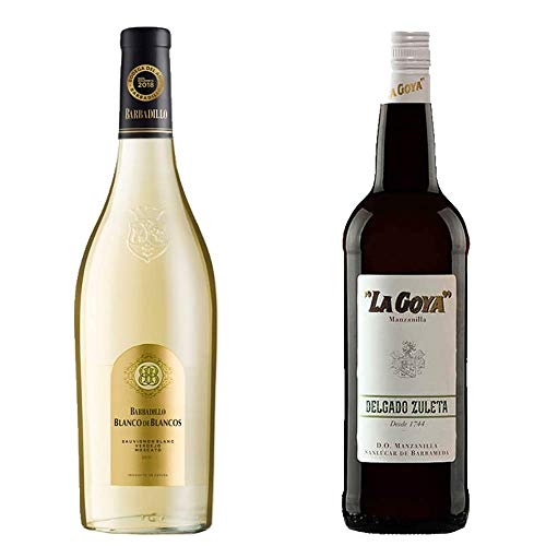 Blanco De Los Blancos Y Manzanilla La Goya - Vino Blanco Y D. O. Manzanilla De Sanlúcar De Barrameda - 2 Botellas De 750 Ml