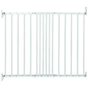 Safetots Barrière extensible en métal, 62,5 à 106,8cm, blanche