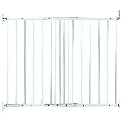 Safetots - Valla de metal extensible de protección para niños, de 62,5a 106,8cm, color blanco