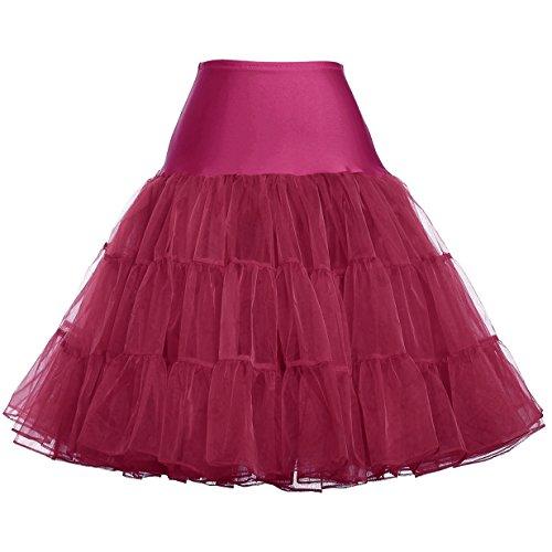 GRACE KARIN Femme Jupon Sous Robe Jupe en Tulle Taille Haute Taille M FR8922-15