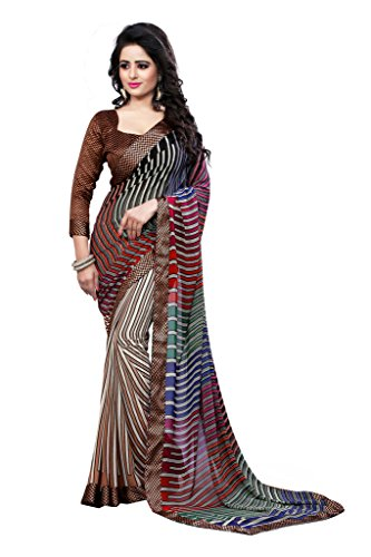 Glory Sarees Georgette Saree (Vn011_Multi Colour)