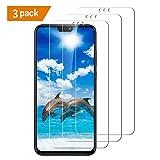 SAYOMOK Verre Trempé pour Huawei Honor 8X, [3-Pièces] Film Protection Huawei Honor 8X Protection écran Dureté 9H, Facile à Installer, sans Bulles d'air, Ultra Résistant en Verre trempé écran