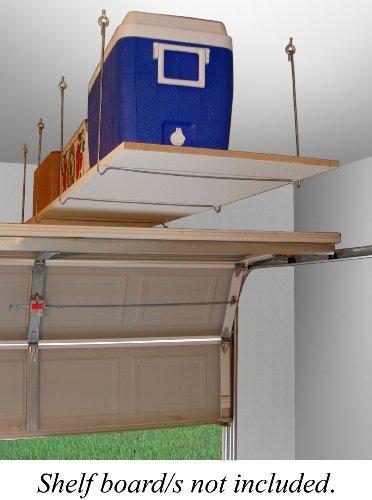 Quick-mensola appendiabiti montaggio a soffitto overhead storage unit by quick-shelf