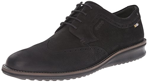 Ecco Men's Contoured Wing Tip Oxford, Black, 43 EU/9-9.5 M US Wing Tip Oxford Lace