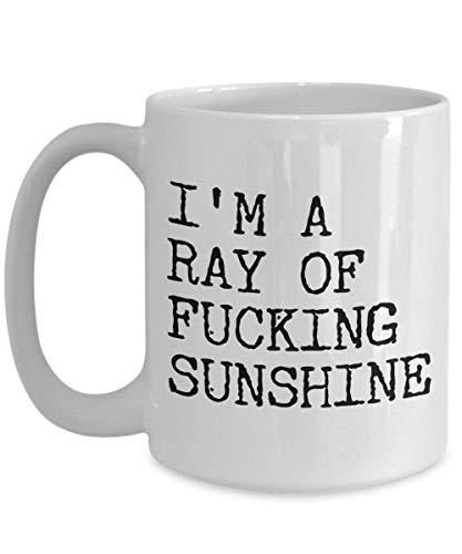 Ich bin ein Ray of Fucking Sunshine Rude Kaffeetasse Keramik Kaffeetasse