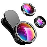 VicTsing Lenti Smartphone 3-in-1 Kit Clip-on [2 * Morsetti Staccabili] Fisheye 180° + Grandangolo 0.4X + Macro 10X, Obiettivi Cellulari per iPhone 8/7/6S/5S, Galaxy, Huawei, LG, Sony, Lumia, Xiaomi ecc