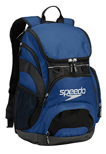 Speedo Large Teamster Backpack, Royal Blue/Black, 35-Liter