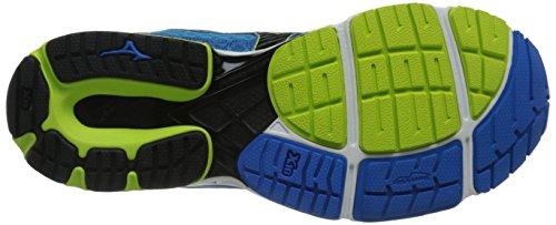 Mizuno Wave Sayonara 3 Synthétique Chaussure de Course Blue-Black-Green