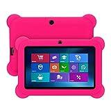 Ultra Slim Función Protectora Funda Carcasa universal de silicona para Tablet PC Q88 con Android de 7 pulgadas baratas fundas tablets Accesorios - Estuches protectores de gel de silicona (rosa caliente)