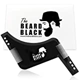Peigne pochoir barbe homme, Beard Shaping Template Tool & Comb, qualité supérieure shaper