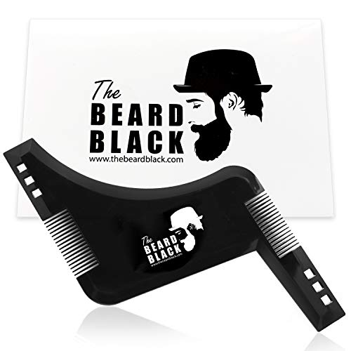 The Beard Black - Peine Plantilla Guía Afeitado Barba