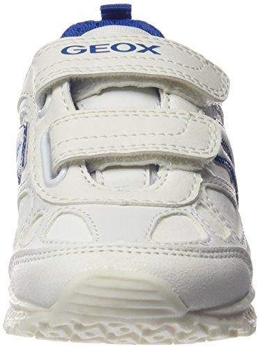 Geox J BERNIE G, Scarpe da Ginnastica Basse Bambino Weiß (WHITE/BLUEC0006)