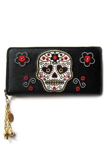 portafoglio banned WBN1405 candy skull wallet
