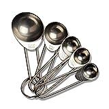 Cucharas dosificadoras 5Pcs Acero inoxidable Sal Cucharilla Café Herramienta de cocina Accesorio Juego Azúcar para hornear Utensilios de cocina