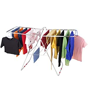 VEEN LIFETIME Stainless Steel Foldable Cloth Stand for Drying Clothes   Cloth Drying Stand for Bedroom   Fold-able Space Saver Stand   Made in India (Butterfly Pipe)