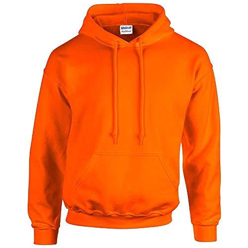 Gildan - Unisex Kapuzenpullover 'Heavy Blend' , Safety Orange, Gr. XL -