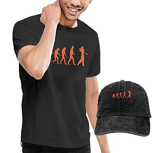 Baostic Herren Kurzarmshirt Golf Evolution Fashion Men's T-Shirt and Hats Youth & Adult T-Shirts -