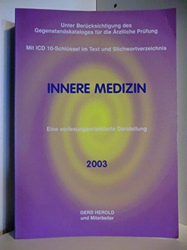 Innere Medizin. Eine vorlesungsorientierte Darstellung
