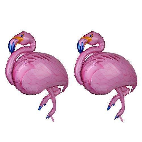 MagiDeal 2pcs Globo de Lámina de Aluminio Forma de Flamingo Gran Decoración de Fiesta Hawaiana de Partido de Luau Cumpleaños de Niños