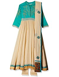 Rain & Rainbow Women's Anarkali Salwar Suit (Pack Of 3)