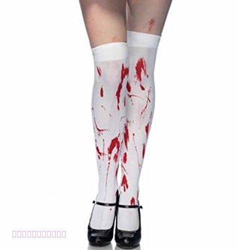 Calze bianche macchiate di sangue, accessorio da donna per il costume di halloween