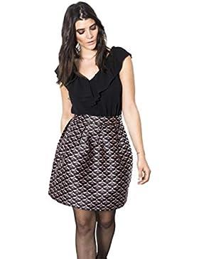 Compañía Fantástica - Falda Camden / Camden Skirt, Color Estampado, Talla L, Mujer