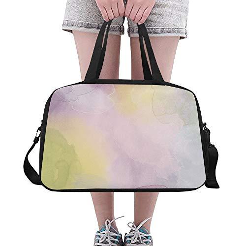Plosds Herren Seesack Reise Aquarell Aquarellfarbe Abstrakte Kunst Rosa Yoga Gym Totes Fitness Handtaschen Seesäcke Schuhbeutel Für Sportgepäck Damen Outdoor Mode Handtaschen Für Frauen -