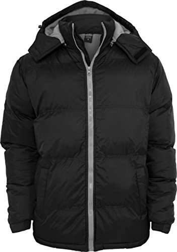 """Urban Classics veste: """"Bubble Long Jacket"""" dans de nombreux coloris Multicolore - Noir/gris"""