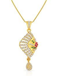 [Sponsored]Malabar Gold And Diamonds 22k Yellow Gold And Cubic Zirconia Pendant