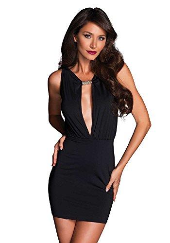 Leg Avenue LO86633 - Damen Kleid Chloë, schwarz, Medium, Dessous Damen Reizwäsche (Leg Avenue-kleider)