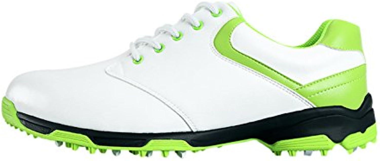 Antideslizante Zapatos de Golf Impermeables con Espigas para Hombres