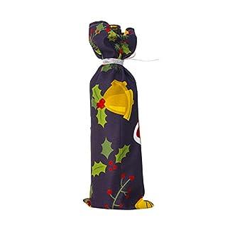 Luo-401XX Tapa De La Botella De Vino, Diseño del Muñeco De Nieve De Santa Christmas Reutilizable Champagne Botella Decoración Cubiertas Bolsas para Decoraciones De Fiestas Navideñas