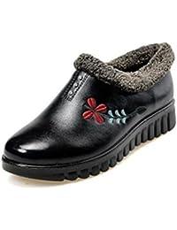 Easemax Damen Einfach Quadratisch Schleife Slipper Pantoffeln Weiß 35 EU q0dF1