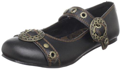 Demonia Daisy-09 - Gothic Punk Industrial Ballerinas Schuhe 36-43, Größe:EU-38 / US-8 / UK-5