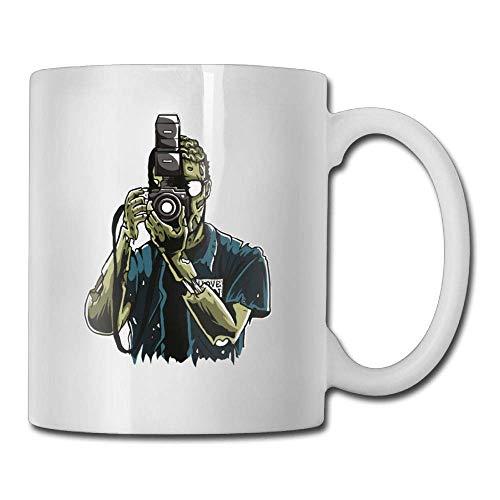 Coffee Mugs Novelty Birthday Zombie Photographer Ceramic Tea Cup