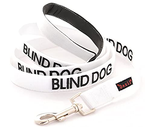 BLIND DOG (Dog Has Limited/No Sight) White Colour Coded 60cm