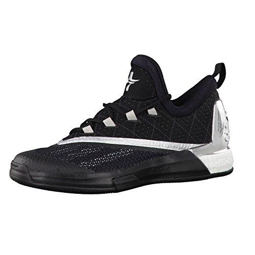 adidas Herren Crazylight Boost 2.5 Low Laufschuhe, Schwarz / Grau / Silber (Negbas / Plamet / Grpudg), 48 2/3 EU