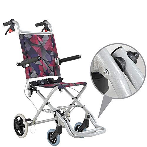ZXCASD Faltrollstuhl Reiserollstuhl Mit Rückengurt Und Abnehmbaren Fußstützen Zum Körperlichen Beeinträchtigungen Und Ältere Menschen