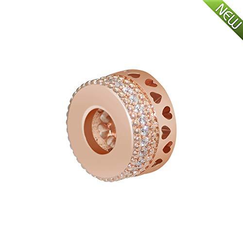 PANDOCCI 2018 per-Herbst-Kollektion Rose Herzen Perlen DIY Passt für Original Pandora Armbänder Charme Modeschmuck (Pro Schmuck Pandora Armband)