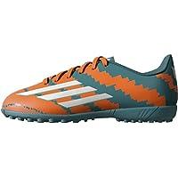 competitive price b6ca7 23e55 adidas Boys J Messi 10.4 TF J Boots-GreenOrangeSilver,
