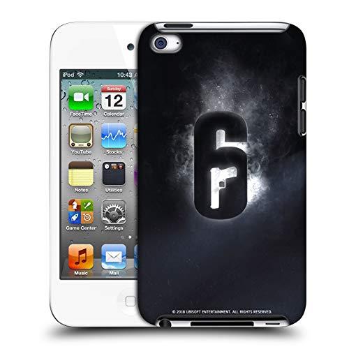 Head Case Designs Offizielle Tom Clancy's Rainbow Six Siege Gluehen Logo Harte Rueckseiten Huelle kompatibel mit Apple iPod Touch 4G 4th Gen Sieg Ipod