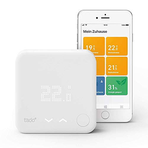 Tado Smartes Thermostat Starter Kit V3+ (Intelligente Heizungssteuerung, kompatibel mit Amazon Alexa, Apple HomeKit, Google Assistant, IFTTT)
